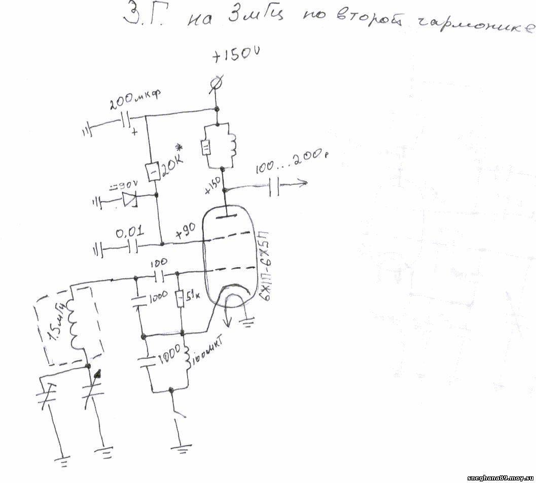 схема мощного лампового передатчика на 160 метров